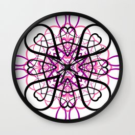 PINK SACRED GEOMETRY Wall Clock