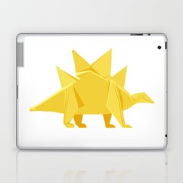 Origami Stegosaurus Flavum Laptop & iPad Skin