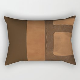 """A series of """"Covers for notebooks"""" . Brown leather. Rectangular Pillow"""