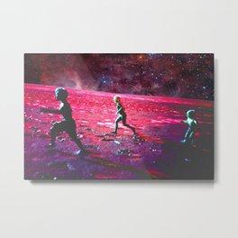 RUN on MARS Metal Print