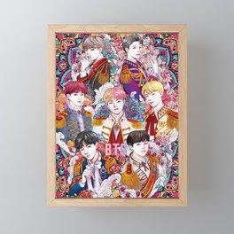 BTS Love Yourself, Kings, ARMY, KPOP Art, Mandala Framed Mini Art Print