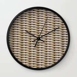 Closeup rattan wickerwork texture Wall Clock