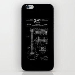 Gibson Les Paul Guitar Patent Drawing 1955 - Blueprint - Music iPhone Skin
