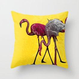 The Flamingo Gang Throw Pillow