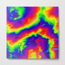 Psychedelic  Fire Metal Print