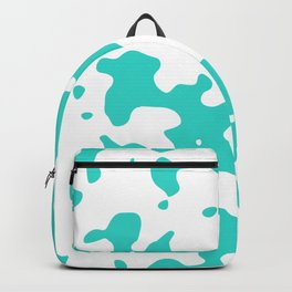 Large Spots - White and Turquoise Backpack