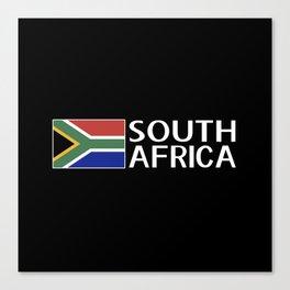 South Africa: South African Flag & South Africa Canvas Print