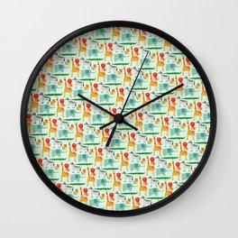 Wild animals 3 Wall Clock