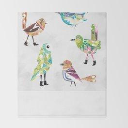 Birds In Boots Throw Blanket
