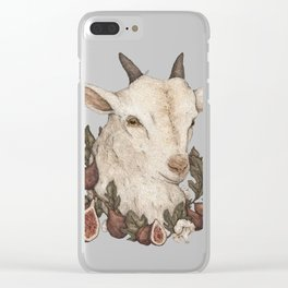 Goat and Figs Clear iPhone Case