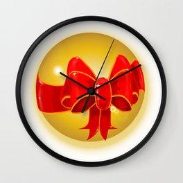 Bow Globe Wall Clock