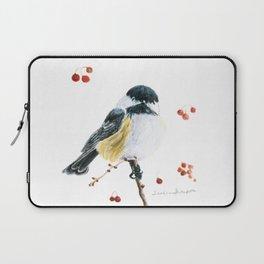 Christmas Chickadee by Teresa Thompson Laptop Sleeve