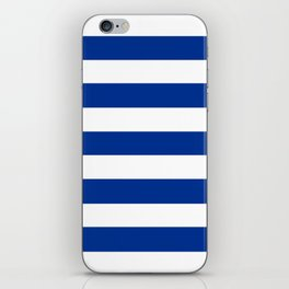 Air Force blue (USAF) -  solid color - white stripes pattern iPhone Skin