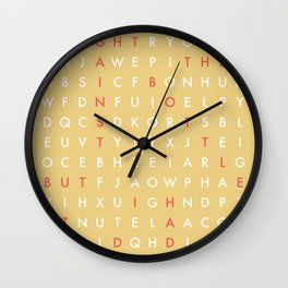 I Fought Against The Bottle, But I Had To Do It Drunk Wall Clock