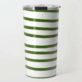 Simply Drawn Stripes in Jungle Green Travel Mug