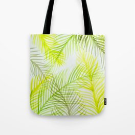 Painted Palm Fronds Tote Bag