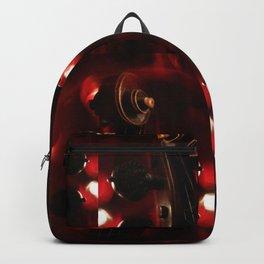 Fiery Red Violin Scroll Backpack