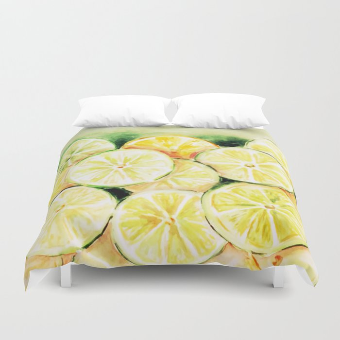 Limes and lemons Duvet Cover