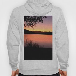 LAKE HENNESSEY - NAPA CALIFORNIA - SUNSET REFLECTION Hoody