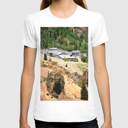 Mayflower Gold Ore Mill, on the Animas River above Silverton T-shirt