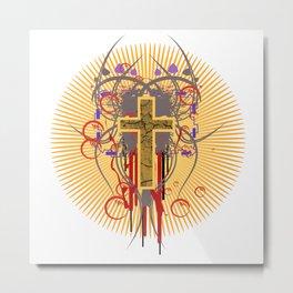 The Cross at Sunrise Metal Print
