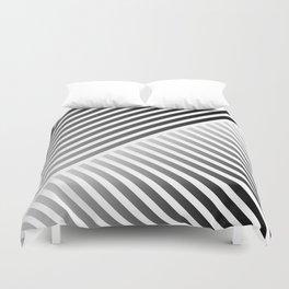 Stripes In Black & White 2 Duvet Cover
