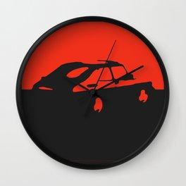 Saab 900 classic, Red on Black Wall Clock