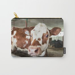 Calf in stalls at farm Carry-All Pouch