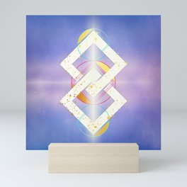 Linked Lilac Diamonds :: Floating Geometry Mini Art Print