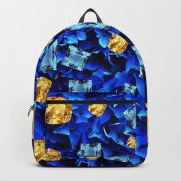 SEPTEMBER BLUE & CHAMPAGNE TOPAZ GEMS BIRTHSTONE ART Backpack