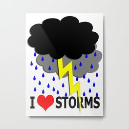 i heart storms Metal Print