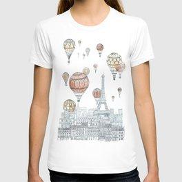Voyages Over Paris T-shirt