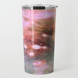 Colorful Pink Sparkle Carina Nebula Abstract Travel Mug