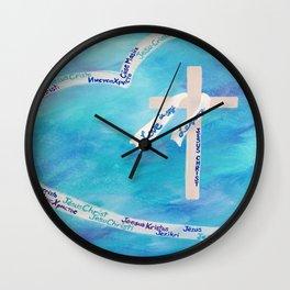 Love In Any Language Cross Wall Clock