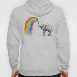 Baby Elephant Spraying Rainbow Hoody
