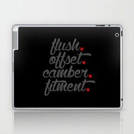 flush offset camber fitment v4 HQvector Laptop & iPad Skin