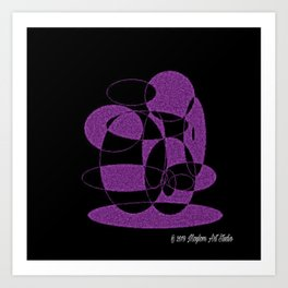 Purple Dreams 12 Art Print