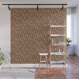 Typographic Graffiti Pattern Wall Mural