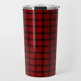 Small Dark Red Weave Travel Mug