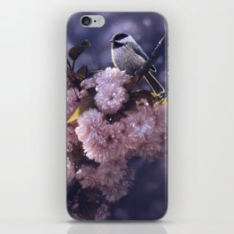 Chickadee - In Spring Pink iPhone Skin