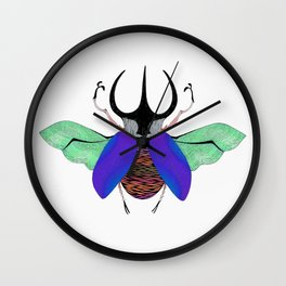 Beetle #5 Color Wall Clock
