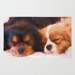 Sleeping Buddies Cavalier King Charles Spaniels Rug