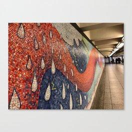 Orange Tiled Tale Canvas Print