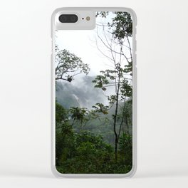 Foggy brazilian forest Clear iPhone Case