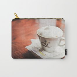 cappuccino on the table Carry-All Pouch