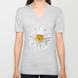 Daisy Blues - Daisy Pattern on Cornflower Blue Unisex V-Neck