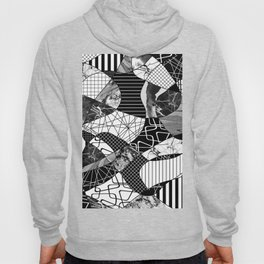 Chaotic Black And White Hoody