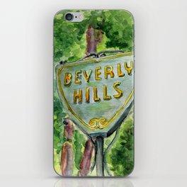 Beverly Hills Street Sign iPhone Skin