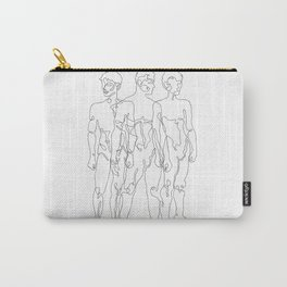 one line male figures Carry-All Pouch