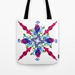 Moroccan Rose Tile Pattern Tote Bag